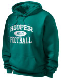 Stay warm and look good in this Hooper Academy High School hooded sweatshirt. Made of super-soft cotton/poly fleece, it will keep you warm on the sidelines or in the stands. Spandex trim provides extra comfort and the coverseamed construction throughout provides increased durability.