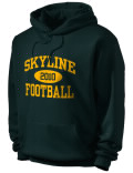 Skyline High School hooded sweatshirt.