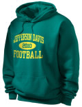 Jeff Davis High School hooded sweatshirt.
