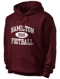Hamilton High School hooded sweatshirt.