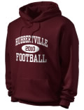 Hubbertville High School hooded sweatshirt.
