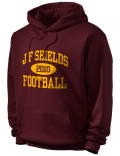 J.F. Shields High School hooded sweatshirt.