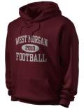 West Morgan High School hooded sweatshirt.