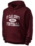 St. Clair County High School hooded sweatshirt.