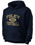 Stay warm and look good in this Foley High School hooded sweatshirt. Made of super-soft cotton/poly fleece, it will keep you warm on the sidelines or in the stands. Spandex trim provides extra comfort and the coverseamed construction throughout provides increased durability.