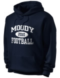 Stay warm and look good in this Moody High School hooded sweatshirt.