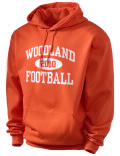 Woodland High School hooded sweatshirt.