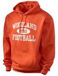 Woodland High School hooded sweatshirt.
