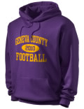 Stay warm and look good in this Geneva County High School hooded sweatshirt.