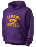 Stay warm and look good in this Daphne High School hooded sweatshirt.