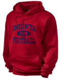 Stay warm and look good in this Oneonta High School hooded sweatshirt. Made of super-soft cotton/poly fleece, it will keep you warm on the sidelines or in the stands. Spandex trim provides extra comfort and the coverseamed construction throughout provides increased durability.