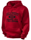 Hillcrest Evergreen High School hooded sweatshirt.