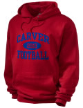 Stay warm and look good in this Carver Birmingham High School hooded sweatshirt. Made of super-soft cotton/poly fleece, it will keep you warm on the sidelines or in the stands. Spandex trim provides extra comfort and the coverseamed construction throughout provides increased durability.