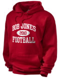 Bob Jones High School hooded sweatshirt.