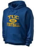 Stay warm and look good in this Talladega County Central High School hooded sweatshirt. Made of super-soft cotton/poly fleece, it will keep you warm on the sidelines or in the stands. Spandex trim provides extra comfort and the coverseamed construction throughout provides increased durability.