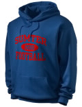 Stay warm and look good in this Sumter Academy High School hooded sweatshirt. Made of super-soft cotton/poly fleece, it will keep you warm on the sidelines or in the stands. Spandex trim provides extra comfort and the coverseamed construction throughout provides increased durability.