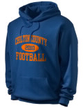Stay warm and look good in this Chilton County High School hooded sweatshirt. Made of super-soft cotton/poly fleece, it will keep you warm on the sidelines or in the stands. Spandex trim provides extra comfort and the coverseamed construction throughout provides increased durability.
