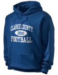 Stay warm and look good in this Clarke County High School hooded sweatshirt.