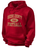 Stay warm and look good in this Greene County High School hooded sweatshirt.