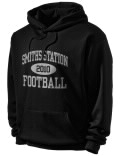 Stay warm and look good in this Smiths Station High School hooded sweatshirt.