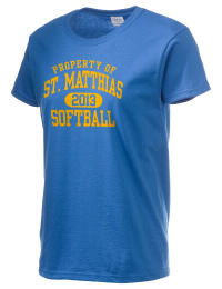 Ultra cotton comfort for the softest feel against your skin. The St. Matthias High School Victorians crewneck T-shirt features a seamless collar for added comfort.