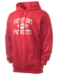 Crafted for comfort, this lighter weight Viewpoint School Patriots hooded sweatshirt is perfect for relaxing and it's a real value for a sportswear hoody. A must have for the serious Viewpoint School Patriots apparel and merchandise collection. 50/50 cotton/poly fleece hoodie with two-ply hood, dyed-to-match drawcord, set-in sleeves, and front pouch pocket round out the features of a Patriots hooded sweatshirt.