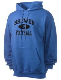 Crafted for comfort, this lighter weight Brewer High School Bears hooded sweatshirt is perfect for relaxing and it's a real value for a sportswear hoody. A must have for the serious Brewer High School Bears apparel and merchandise collection. 50/50 cotton/poly fleece hoodie with two-ply hood, dyed-to-match drawcord, set-in sleeves, and front pouch pocket round out the features of a Bears hooded sweatshirt.
