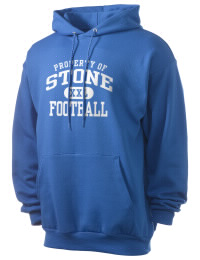Crafted for comfort, this lighter weight Stone High School Tomcats hooded sweatshirt is perfect for relaxing and it's a real value for a sportswear hoody. A must have for the serious Stone High School Tomcats apparel and merchandise collection. 50/50 cotton/poly fleece hoodie with two-ply hood, dyed-to-match drawcord, set-in sleeves, and front pouch pocket round out the features of a Tomcats hooded sweatshirt.