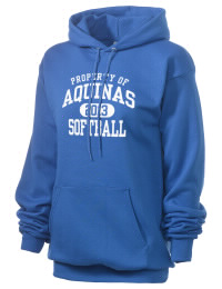 Crafted for comfort, this lighter weight Aquinas High School Falcons hooded sweatshirt is perfect for relaxing and it's a real value for a sportswear hoody. A must have for the serious Aquinas High School Falcons apparel and merchandise collection. 50/50 cotton/poly fleece hoodie with two-ply hood, dyed-to-match drawcord, set-in sleeves, and front pouch pocket round out the features of a Falcons hooded sweatshirt.