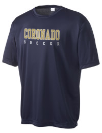 Take on your opponents in maximum comfort in this performance t-shirt. The Coronado High School Thunderbirds Competitor crewneck T-Shirt is lightweight and offers a roomy, athletic look and helps control moisture.