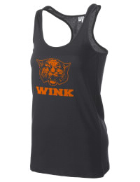 The Wink High School Wildcats District Threads Racerback Tank is semi-fitted for a flattering look and perfect for layering. Racerback detail lends casual, athletic style.