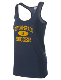 The Totino-Grace High School Eagles District Threads Racerback Tank is semi-fitted for a flattering look and perfect for layering. Racerback detail lends casual, athletic style.