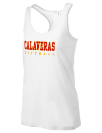 The Calaveras High School Redskins District Threads Racerback Tank is semi-fitted for a flattering look and perfect for layering. Racerback detail lends casual, athletic style.