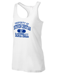 The Southview Christian School Conquerors District Threads Racerback Tank is semi-fitted for a flattering look and perfect for layering. Racerback detail lends casual, athletic style.