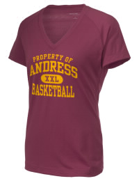 The Ladies Ultimate Performance V-Neck Andress High School Eagles tee is perfect for your active lifestyle.  The V-neck performance t-shirt is made with moisture wicking fabric and has a soft, cotton-like feel. This layerable Andress High School Eagles V-neck tee is sure to become a favorite on and off the court.