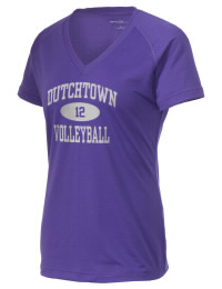The Ladies Ultimate Performance V-Neck Dutchtown High School Griffins tee is perfect for your active lifestyle.  The V-neck performance t-shirt is made with moisture wicking fabric and has a soft, cotton-like feel. This layerable Dutchtown High School Griffins V-neck tee is sure to become a favorite on and off the court.