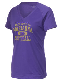 The Ladies Ultimate Performance V-Neck Marianna High School Bulldogs tee is perfect for your active lifestyle.  The V-neck performance t-shirt is made with moisture wicking fabric and has a soft, cotton-like feel. This layerable Marianna High School Bulldogs V-neck tee is sure to become a favorite on and off the court.