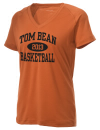 The Ladies Ultimate Performance V-Neck Tom Bean High School Tomcats tee is perfect for your active lifestyle.  The V-neck performance t-shirt is made with moisture wicking fabric and has a soft, cotton-like feel. This layerable Tom Bean High School Tomcats V-neck tee is sure to become a favorite on and off the court.