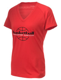 The Ladies Ultimate Performance V-Neck Davenport Elementary School Gorillas tee is perfect for your active lifestyle.  The V-neck performance t-shirt is made with moisture wicking fabric and has a soft, cotton-like feel. This layerable Davenport Elementary School Gorillas V-neck tee is sure to become a favorite on and off the court.