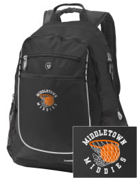 A go-anywhere Middletown High School Mighty Middies backpack design in a streamlined size that's engineered to hold all the essentials in place. Convenient dual-side mesh water bottle pockets, and front pocket with organizer panel. Great for Middletown High School Mighty Middies fan gear.