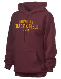 Crafted for comfort, this lighter weight embroidered Simi Valley High School Pioneers hooded sweatshirt is perfect for relaxing.  A must have hoody for the serious Simi Valley High School Pioneers apparel and merchandise collection. 50/50 cotton/poly fleece hoodie with two-ply hood, dyed-to-match drawcord, set-in sleeves, and front pouch pocket round out the features of a Pioneers hooded sweatshirt.