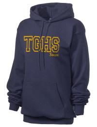 Crafted for comfort, this lighter weight embroidered Totino-Grace High School Eagles hooded sweatshirt is perfect for relaxing.  A must have hoody for the serious Totino-Grace High School Eagles apparel and merchandise collection. 50/50 cotton/poly fleece hoodie with two-ply hood, dyed-to-match drawcord, set-in sleeves, and front pouch pocket round out the features of a Eagles hooded sweatshirt.