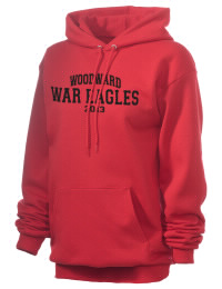 Crafted for comfort, this lighter weight embroidered Woodward Academy War Eagles hooded sweatshirt is perfect for relaxing.  A must have hoody for the serious Woodward Academy War Eagles apparel and merchandise collection. 50/50 cotton/poly fleece hoodie with two-ply hood, dyed-to-match drawcord, set-in sleeves, and front pouch pocket round out the features of a War Eagles hooded sweatshirt.