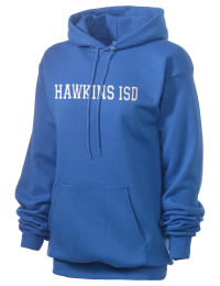 Crafted for comfort, this lighter weight embroidered Hawkins ISD School Hawks hooded sweatshirt is perfect for relaxing.  A must have hoody for the serious Hawkins ISD School Hawks apparel and merchandise collection. 50/50 cotton/poly fleece hoodie with two-ply hood, dyed-to-match drawcord, set-in sleeves, and front pouch pocket round out the features of a Hawks hooded sweatshirt.