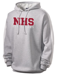 Get a little two-tone style with this custom tackle twill Natick High School Redhawks hoodie. It's colorfast so it will look sharp wash after wash, and it resists shrinking so it will keep its roomy fit. The sleeve stripe helps it stand apart from the rest of the hoodies in the crowd.