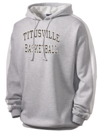 Get a little two-tone style with this custom tackle twill Titusville High School Rockets hoodie. It's colorfast so it will look sharp wash after wash, and it resists shrinking so it will keep its roomy fit. The sleeve stripe helps it stand apart from the rest of the hoodies in the crowd.