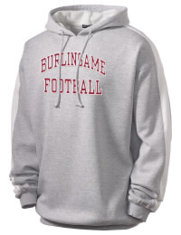 Get a little two-tone style with this custom tackle twill Burlingame High School Panthers hoodie. It's colorfast so it will look sharp wash after wash, and it resists shrinking so it will keep its roomy fit. The sleeve stripe helps it stand apart from the rest of the hoodies in the crowd.