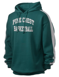 Get a little two-tone style with this custom tackle twill Pine Crest School Panthers hoodie. It's colorfast so it will look sharp wash after wash, and it resists shrinking so it will keep its roomy fit. The sleeve stripe helps it stand apart from the rest of the hoodies in the crowd.