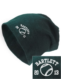 On the street or on the slopes, stay warm and look cool in this Bartlett High School Indians knit hat. An acyrlic/polyester blend beanie with a snug yet slouchy fit. Embroidery will not be on center front, but off centered to the left.