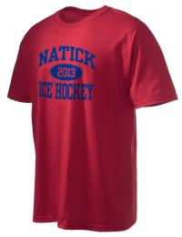 This custom Natick High School Redhawks crewneck t-shirt with a seamless collar turns a classic into an ultra comfortable apparel choice. Customize this t-shirt with your favorite Redhawks design and personalize with your Natick High School Redhawks year. Choose your custom design for your tee and wear this customized t-shirt proudly.